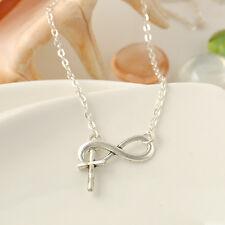 Fashion Charm Jewelry Cross Choker Chunky Statement Bib Pendant Chain Necklace