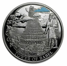 2016 Palau Proof 2-Coin Silver Biblical Stories (Tower of Babel) - SKU #104081