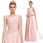 Sexy One Shoulder Long Dress Slim Prom Formal Cocktail Party Evening Maxi Gown