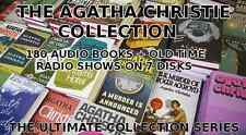 AGATHA CHRISTIE 180 AUDIO BOOKS + 50 OLD TIME RADIO SHOWS 7 DISKS-MARPLE-POIROT