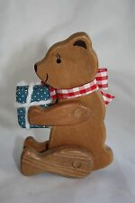 Primitive Country Decor Wood Jointed Poseable Shelf Sitter Bear