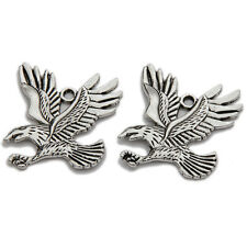 10pcs Hot Carfts Jewelry Antique Silver Eagle Flying Alloy Pendant Charms L