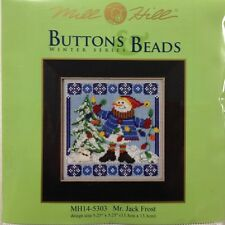Cross Stitch Kit Mr. Jack Frost Snowman Mill Hill Buttons Beads