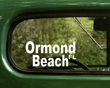Ormand Beach Florida Decal Sticker (2) for Cars, Trucks, Laptops