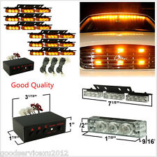DC12V 54LED Super Bright Amber Car Front Grille Hazard Emergency Flashing Lights