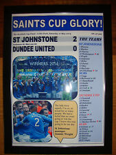St Johnstone 2 Dundee United 0 - 2014 Scottish Cup final - framed print