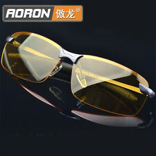 Mens High-End Night Vision Polarized Glasses Driving Aviator Sunglasses Eyewear