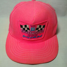 Vtg Snapback Baseball Hat Cap GOODWRENCH 200 Neon Pink Trucker Painter