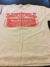 Budweiser T-Shirt Men XL Gray King of Beers Bar Party Distressed Soft