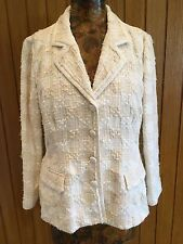 NWT D&G cream cotton fitted jacket size 46
