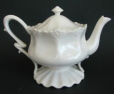 NEW GRACE'S TEAWARE VICTORIAN  OFF WHITE TEA+COFFEE POT,TEAPOT