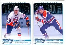 2 CARD LOT 2013-14 UPPER DECK HOCKEY HEROES MARK MESSIER #HH42 MIKE BOSSY #HH45