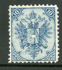 Bosnia Herzegovina 1879/90 Arms 10k blue p12 irreg MINT