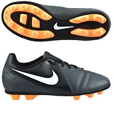 Junior Kids Nike Enganche III Firm Ground Football Boots Shoes Size UK 5 Black