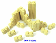 LEGO / 30 Pezzi 1x2 beige / Palizzata / Wellenstein