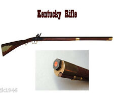 Replica Colonial Kentucky Flintlock Rifle Short Plains Version Prop Gun