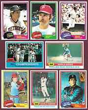 1981 Topps 25/ $1.00 You Pick #s 5 9 10 11 12 14 15 16 18....718 719 721 723 725