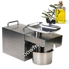 Commercial and Home Use Automatic Oil Press Machine Stainless Steel Oil Expeller