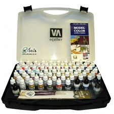 VALLEJO MODEL COLOR ACRYLICS SET HOBBY RANGE CARRY CASE VAL70172