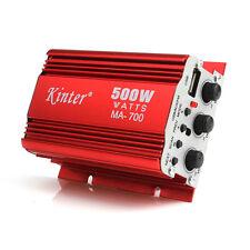Rojo MA700 500W motocicleta del coche de 2 canales de audio amplificador Mp3 AMP