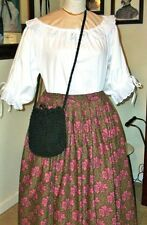 "Civil War Victorian Style~Gorgeous~Vintage~He avy Braided Bag~Purse 9"" X 9"""