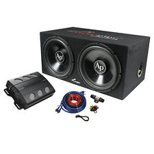 "Audiopipe APSB1299PP Super Bass Combo Pack 600W, Max Dual 12"" Loaded Box"