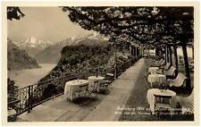 SEELISBERG Schweiz Kanton Uri ~1930 Terrasse vom Hotel Sonnenberg alte Posktarte