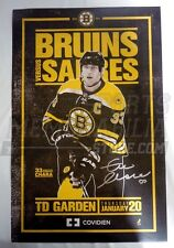 Zdeno Chara Boston Bruins Signed Autographed Game Day Roster Poster 11x17