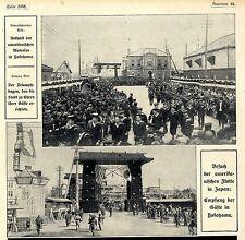 Ankunft der amerikanischen Matrosen in Yokohama (Triumphbogen) 1908