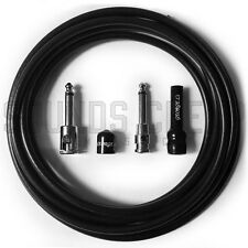 George L's .225 10ft Solderless Guitar Cable Kit - Right Angle / Straight Plugs