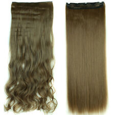 100% Real Thick 200G Full Head Clip in Hair Extensions natural as human hair Q78
