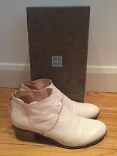 Ladies MOMA Sicilian Hess White Vintage Italian Leather Ankle Boot 39, UK6
