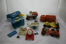 1967 Remco Mighty Mike ACTION SET Camper and Wrecker Set w/ Track Set & Jeeps!
