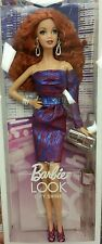 The Barbie Look Aphrodite Model Muse Doll Redhead City Shine Purple Dress NRFB