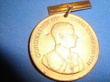 Old Vintage Metal Round Medal Of King Edward VIII Coronation from England 1937