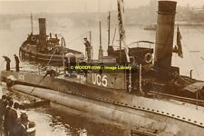 rp12195 - German Navy Submarine - UC5 - photo 6x4
