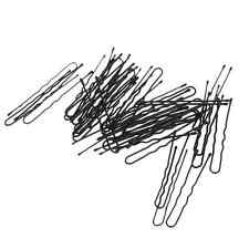 50pcs U Shape Hair Bobby Pin Black Metal Clips Styling Tools Free Ship