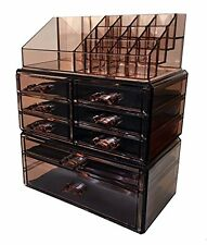 Sodynee Acrylic Makeup Cosmetic Organizer Storage Drawers Display Boxes Case,