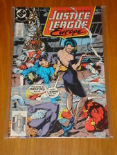 JUSTICE LEAGUE EUROPE #4 VOL 1 DC COMIC JLA JULY 1989