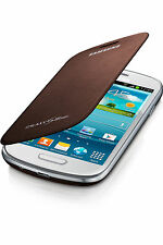 Genuine Samsung GT-I8190N ( NFC ) Flip Case Cover Galaxy S III S3 Mini -Brown