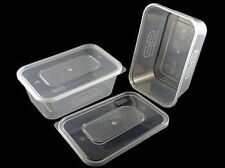 20 x 500ml  SATCO HEAVY DUTY STRONG PLASTIC FOOD GRADE STORAGE CONTAINERS + LIDS
