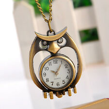 Montre owl Vintage Quartz Watch pocket necklace chain pendant Montre