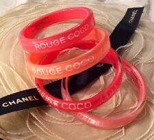 Authentic CHANEL VIP Rouge Coco Shine Set of 4 Bangles/Bracelets. NEW