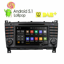 "Android 5.1 Radio 7"" Stereo DVD Car GPS for Mercedes Benz C-W203 CLK-Class W209"