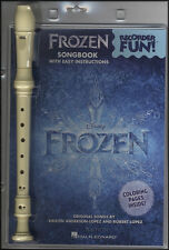 Recorder Fun Frozen Songbook Music Book WITH INSTRUMENT