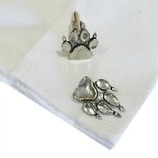 Silver Pewter Dog Paw Cufflinks Handmade in England Cuff Links Dogs Paws Pet New
