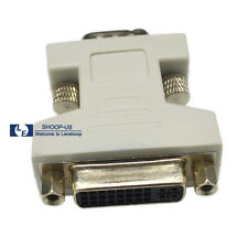 New DVI-I Female Analog (24+5) to VGA Male(15-pin) Connector Dual Link Adapter