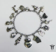 Alice in Wonderland Queen of Hearts Inspired Charm Bracelet
