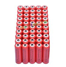 50x AA 3000mAh 2A 1.2 V Ni-MH Red Rechargeable Battery Cell for MP3 RC Toys
