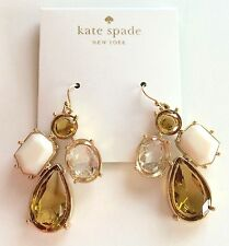 NWT KATE SPADE Earrings Yellow & White Stone Gold Tone Neutralmlt O0RU0732 $78